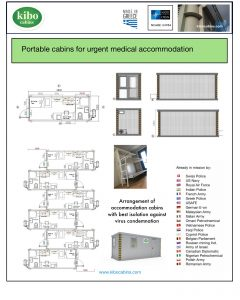 Portable Kibo cabins for medical accommodation