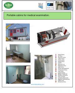 Portable Medical cabins Kibo for examination